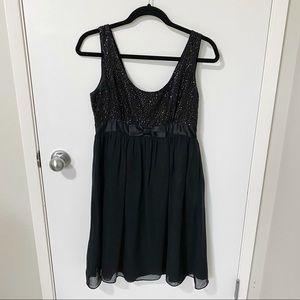Betsey Johnson Silk Sequin Evening Dress, Black-6